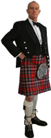Alexander Knox in his MacFarlane Clan dress kilt.